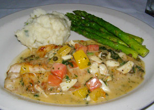 Bistro Mezzaluna Yellowtail Snapper